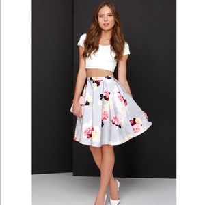 Keepsake floral skirt